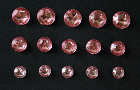 Acrylic Crystal Rounds - Pink