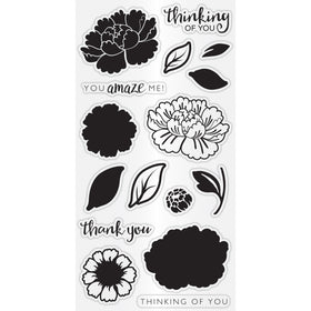 Hampton Art Clear Layering Stamp Set - Flower Amaze