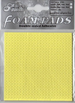 Double Sided 3-D Round Foam Pads - Small