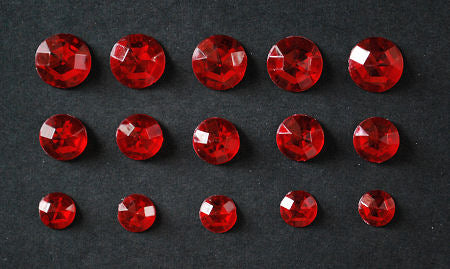Acrylic Crystal Rounds - Ruby