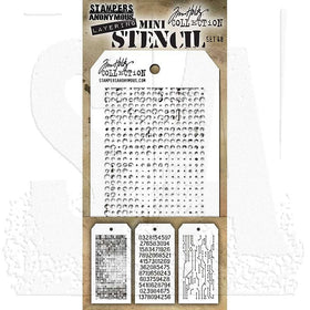 Tim Holtz Layering Stencil - Mini Stencil Set #48