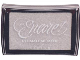 Encore Ultimate Metallic Ink Pad - Silver