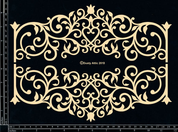 Dusty Attic Ironwork Banner Chipboard Laser Cuts