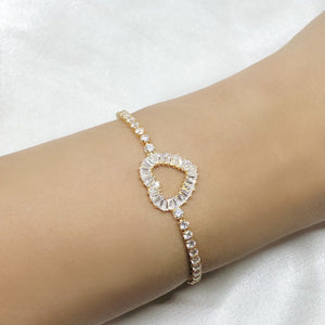 Women's Heart Bracelet Gold