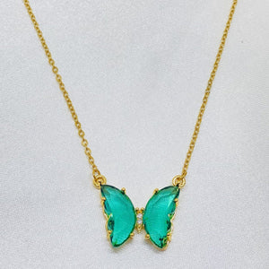 Butterfly necklace choker
