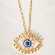 Load image into Gallery viewer, Evil Eye Necklace Gold