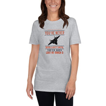 Load image into Gallery viewer, Unisex Pilot T-Shirt Funny  - You've never been lost until you've been lost at Mach 3 - PilotHangout