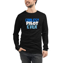 Load image into Gallery viewer, Unisex Long Sleeve T-Shirt - Coolest Pilot Ever - PilotHangout