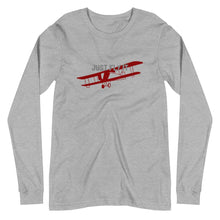Load image into Gallery viewer, Unisex Long Sleeve T-Shirt - Just Fly It - PilotHangout