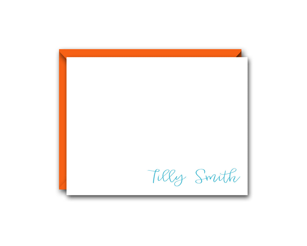 BEAUTIFUL PERSONALIZED NOTE CARD SET