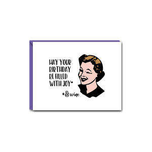 WITTY WOMEN WISHING YOU HAPPINESS GREETING CARD SET