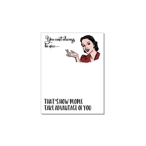WITTY WOMEN WHO CAN'T BE NICE NOTEPADS