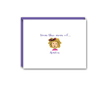 Load image into Gallery viewer, FROM THE MOM OFF... ONE CHILD PERSONALIZED NOTE CARD SET