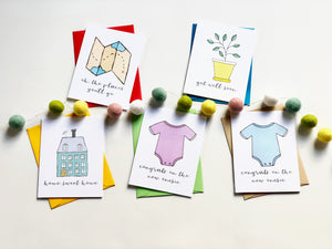 GAME OF LIFE PUN FUN GREETING CARD SET