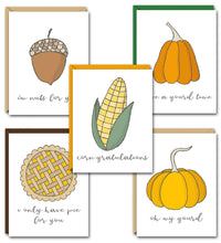 Load image into Gallery viewer, GOURD-EOUS PUN FUN GREETING CARD SET
