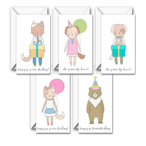 PAW-TY TIME MINI CARD SET