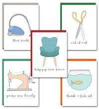 Load image into Gallery viewer, ON THE HOUSE PUN FUN GREETING CARD SET
