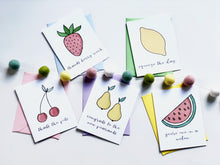 Load image into Gallery viewer, FRUIT PUNCH PUN FUN GREETING CARD SET