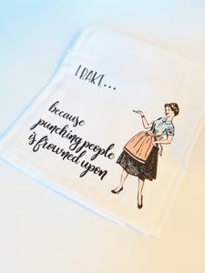 WITTY WOMEN FLOUR SACK DISH TOWELS