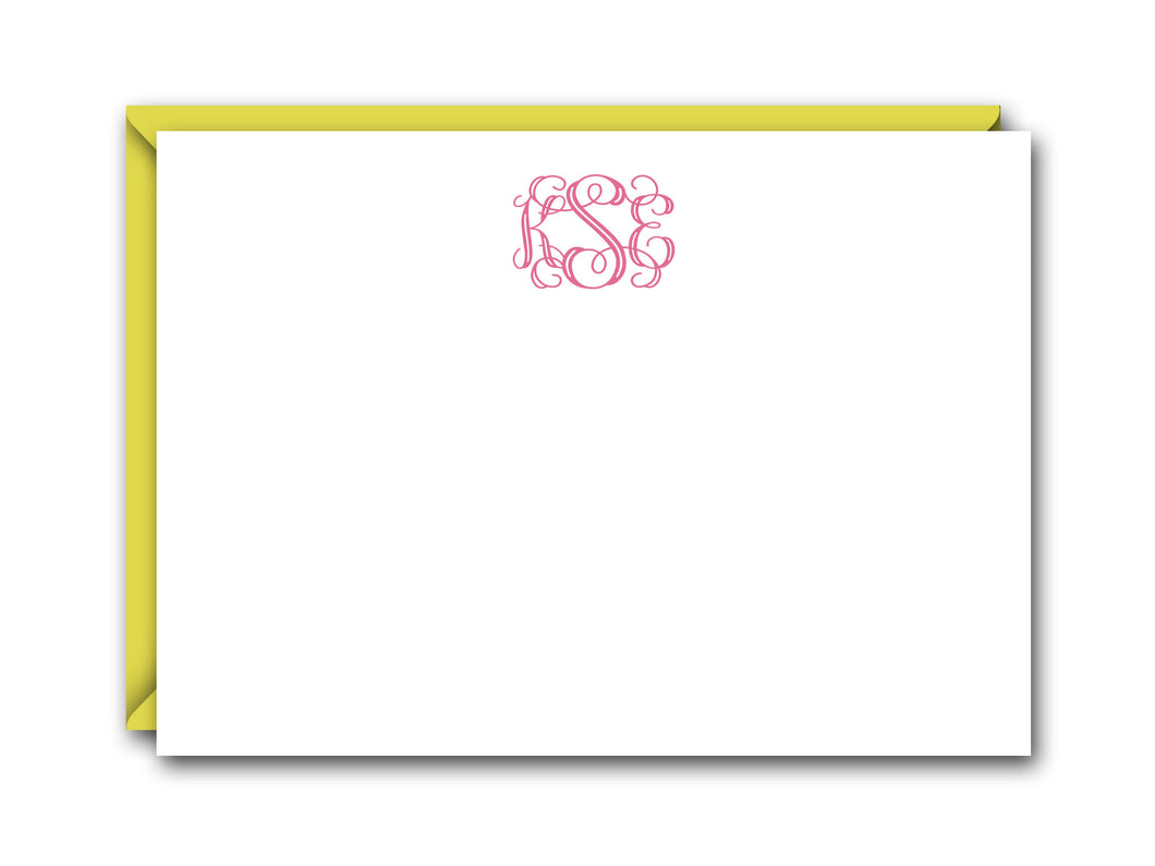 VINE MONOGRAM FLAT NOTE CARD SET