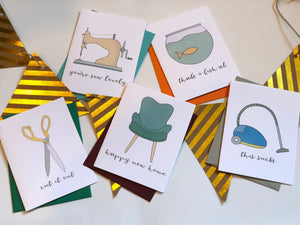 ON THE HOUSE PUN FUN GREETING CARD SET