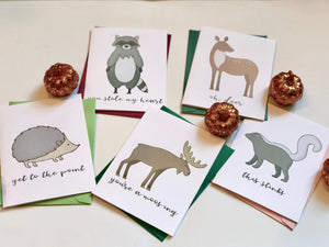 FAWNY WILDLIFE PUN FUN GREETING CARD SET