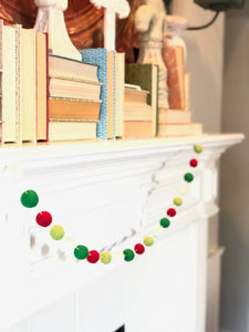 JOYFUL WOOL FELT BALL GARLAND