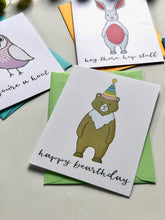 Load image into Gallery viewer, ANIMAL HOUSE PUN FUN GREETING CARD SET