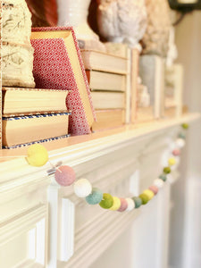 SPRING WOOL FELT BALL GARLAND