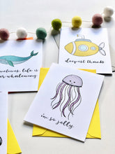 Load image into Gallery viewer, SEAS THE DAY PUN FUN GREETING CARD SET