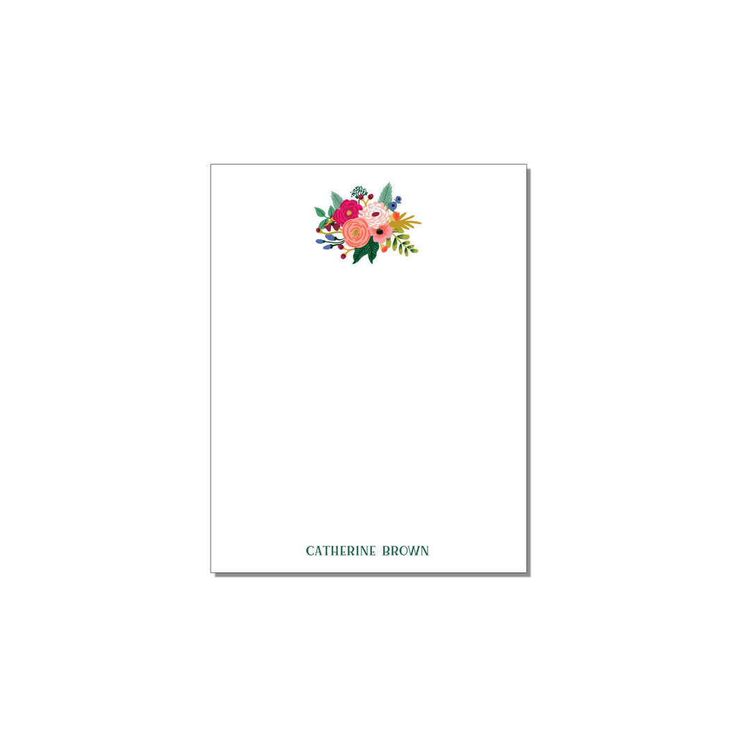 FLORAL PERSONALIZED NOTEPAD
