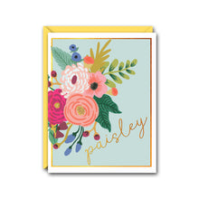 Load image into Gallery viewer, FLORAL BOUQUET PERSONALIZED NOTE CARD SET