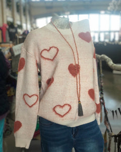 H&T -  Hearts all Over Sweater