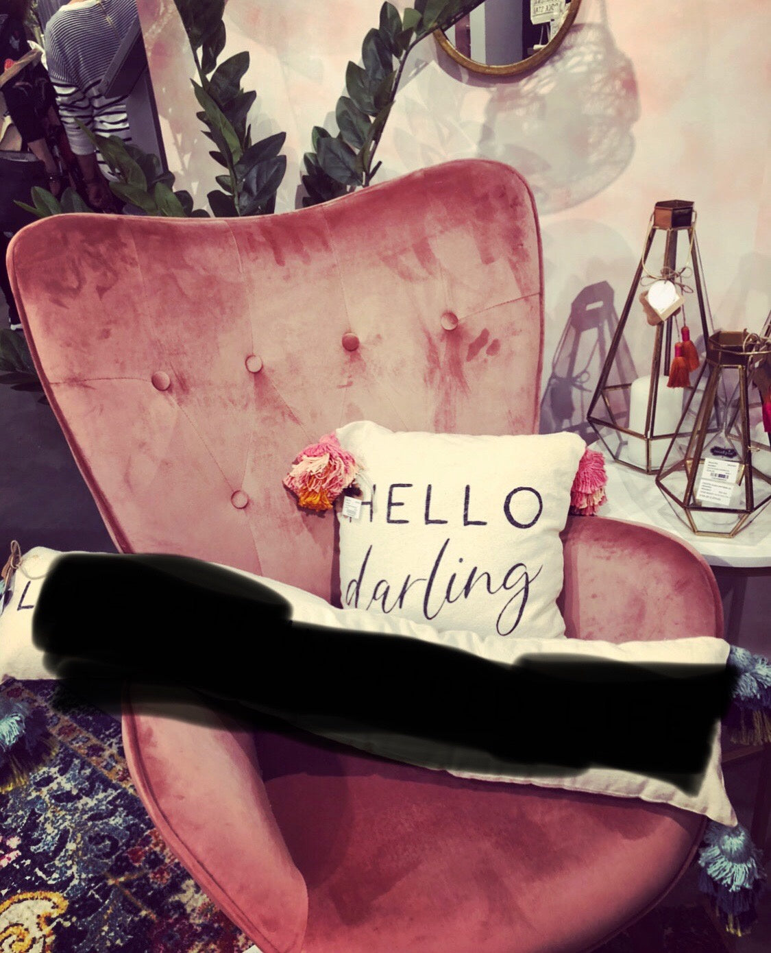 MP- Hello Darling Tassel Pillow