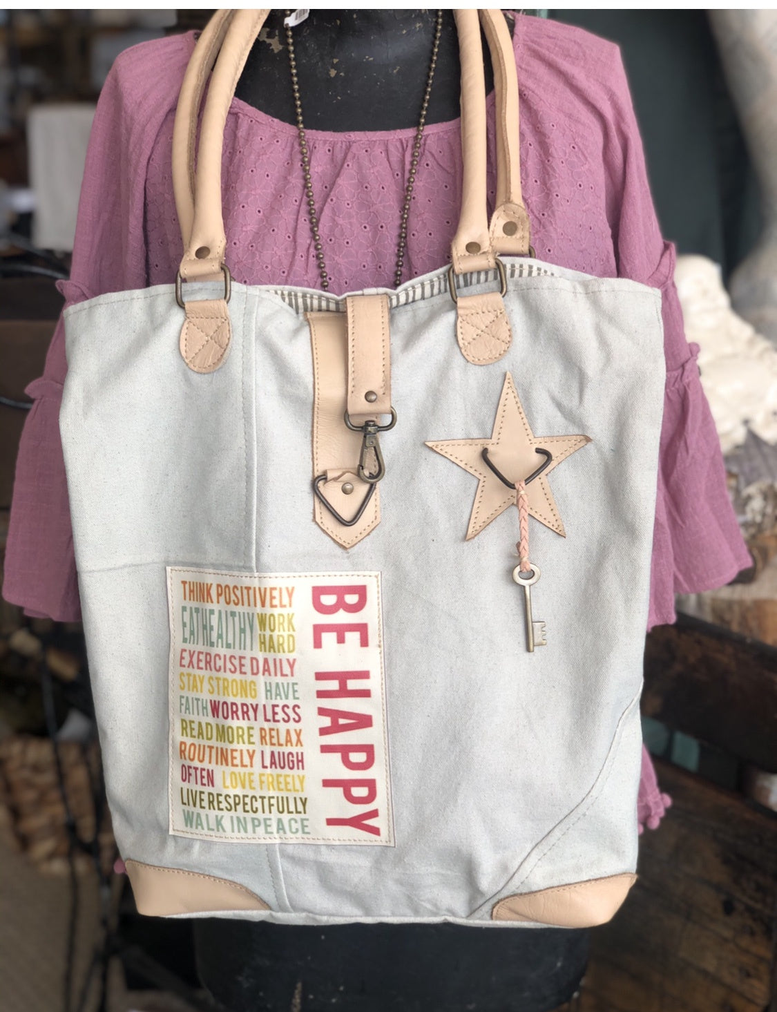VA - Be Happy Star Tote