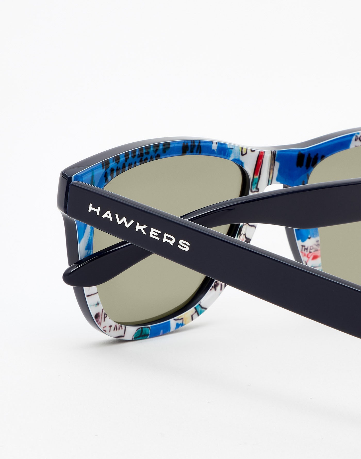 Basquiat x Hawkers · Clear Blue