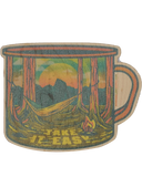 Camping Mug Wood Sticker - Nowhere Land