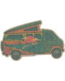 Beach Van Wood Sticker - Nowhere Land