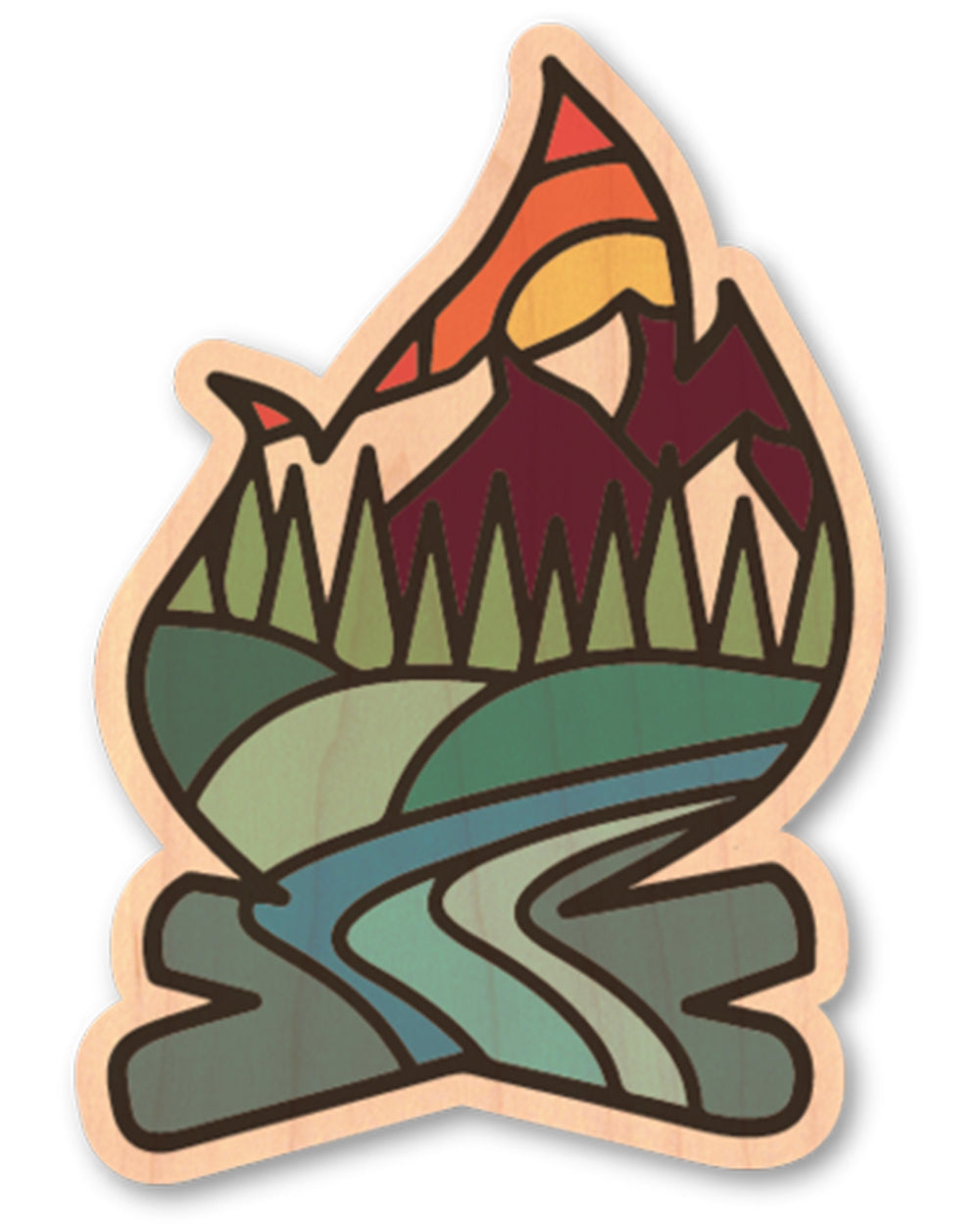 Campfire Wood Sticker - Atomic Child