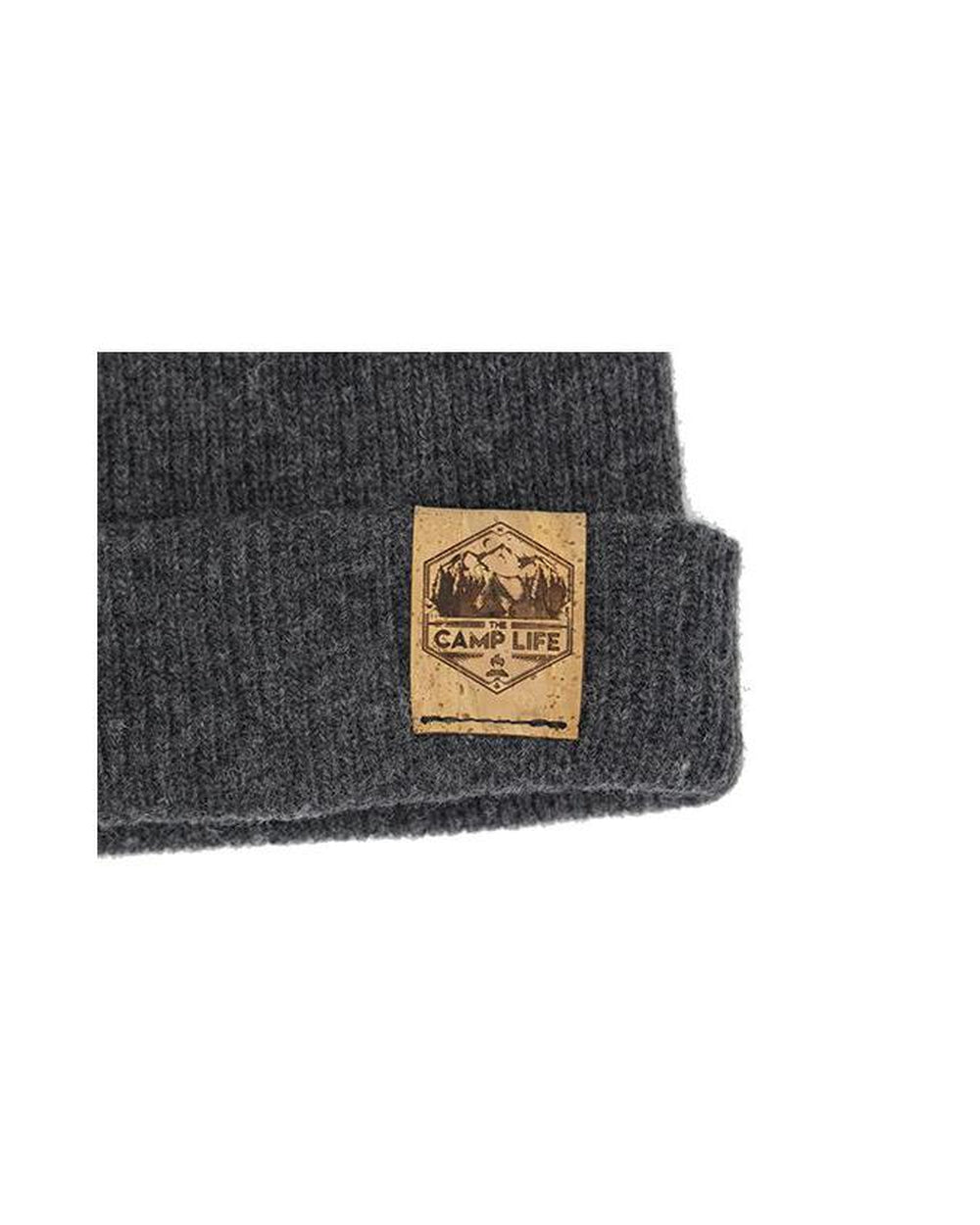 The Camp Life 100% Merino Wool + Cork Beanie