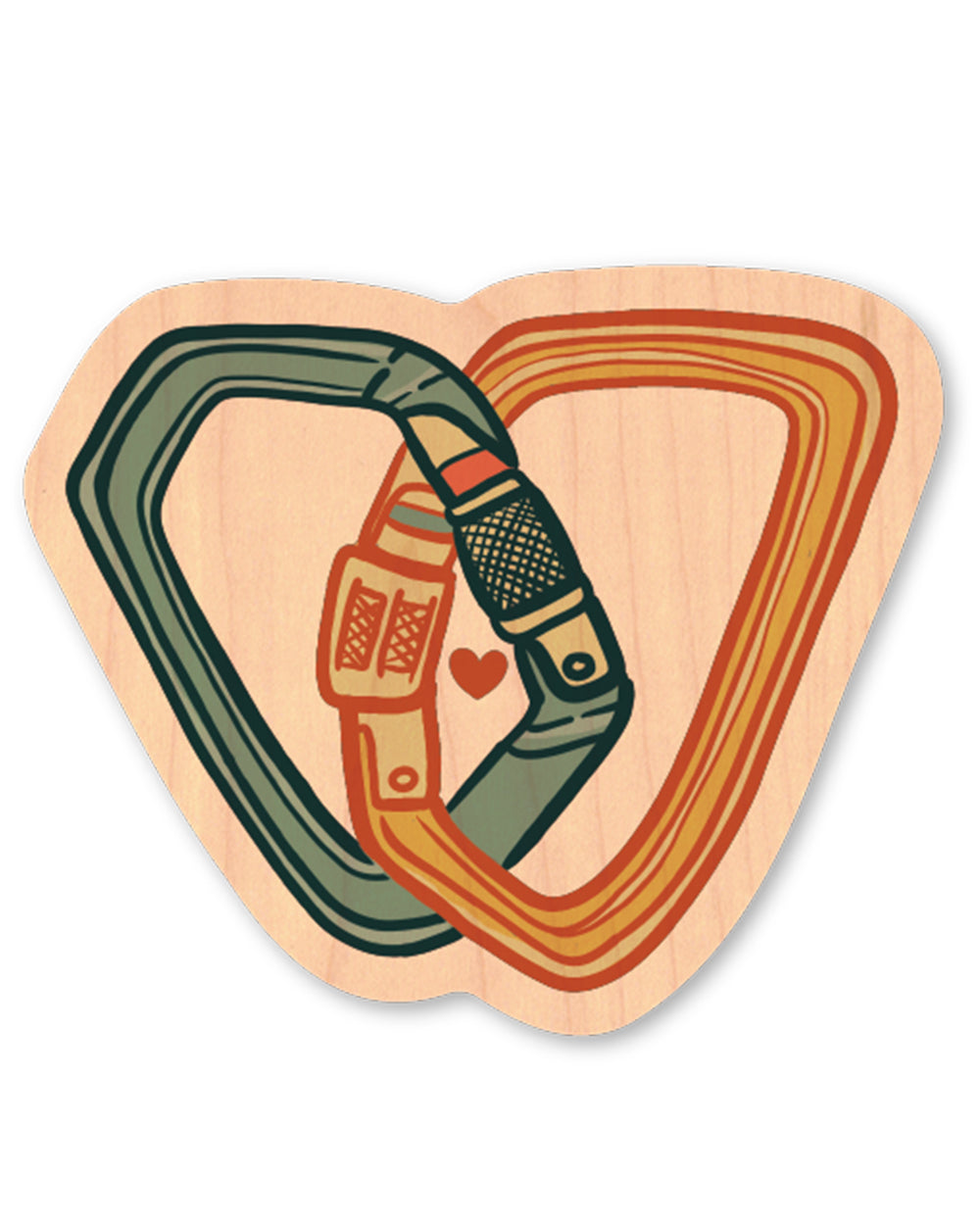 Love Climbing Wood Sticker