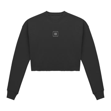 Cropped Sweater - Black - 11ing