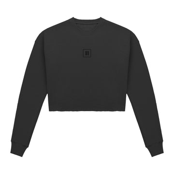 Cropped Sweater - Black/Black - 11ing