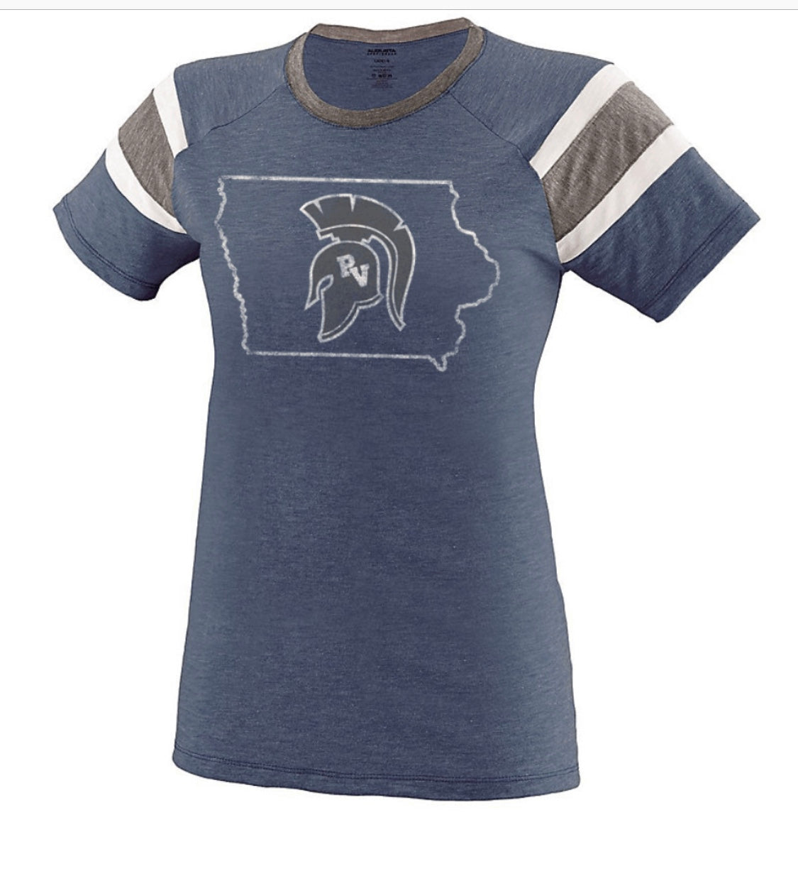 Vintage Fanatic Tee with Iowa Logo - avail. in girls & ladies sizes