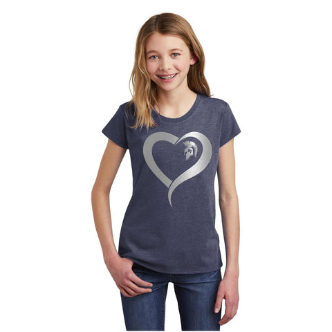 Girls T-shirt with heart logo