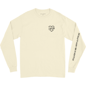 Cream Heart Open LS T-Shirt