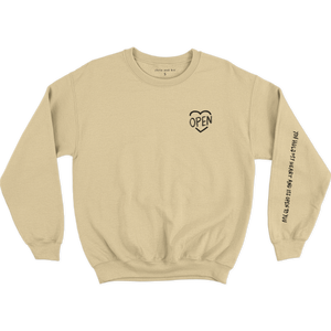 Sand Heart Open Crewneck