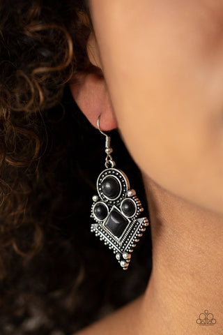 So Sonoran Black Earrings
