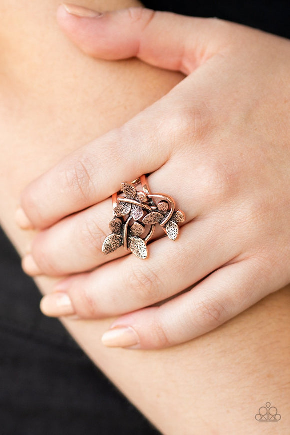 Full Of Flutter Copper Ring