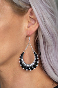 Once In A SHOWTIME Black Earrings